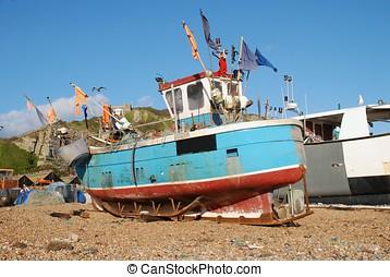 Fishing boat fleet, Hastings - Part of the fishing boat...