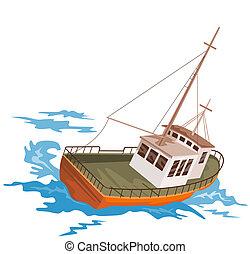 Fishing boat - Illustration on boats