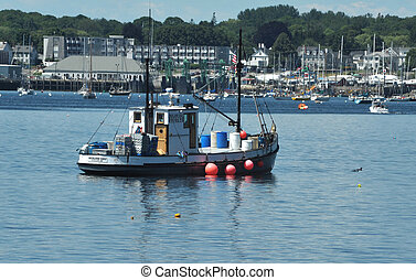 Fishing boat in Maine