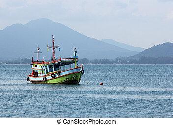 Fishing boat in sea thailand