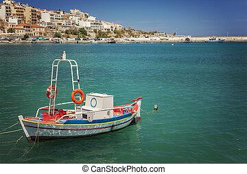 Fishing boat in Sitia