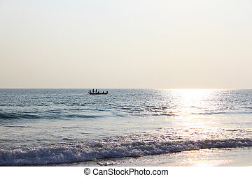 Fishing boat in the Indian ocean