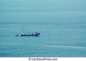 Fishing-boat in the Sea