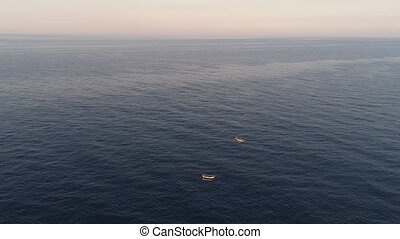 Fishing boat in the sea, indonesia - small fishing boat in...
