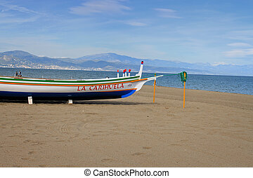 Fishing boat in Torremolinos