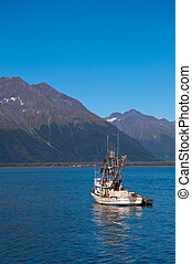 Fishing Boat in Valdez - View of fishing boat on sunny day ...