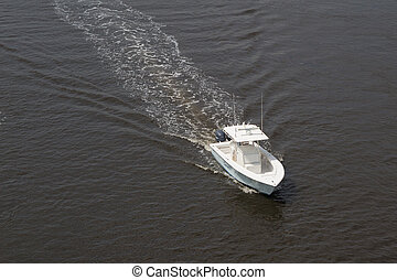 Fishing Boat - JACKSONVILLE, FLORIDA, USA-JULY19, 2015: A ...
