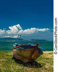 Fishing Boat Nha Trang Bay Vietnam