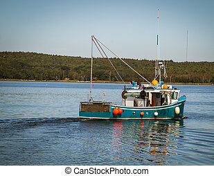 fishing boat nova scotia - Fishing boat on the atlantic...
