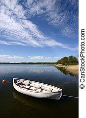 boat on a lake