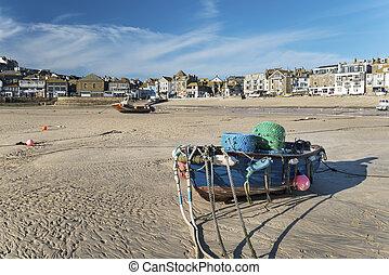 Fishing Boat on Beach