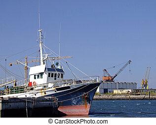 Fishing boat on dock