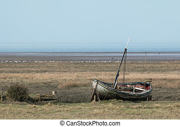 Fishing Boat on Norfolk Salt Marsh