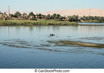 Fishing boat on the River Nile