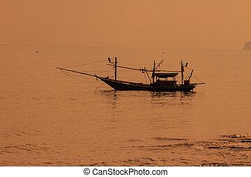Fishing boat on the sea