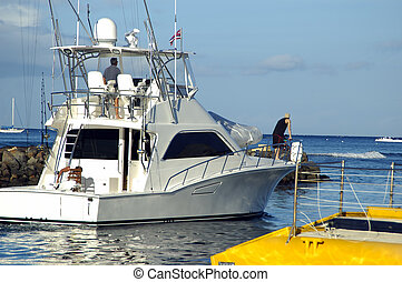 Fishing Boat - People eager to go fishing on a bright sunny ...
