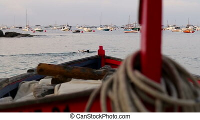 Fishing Boat Rack Focus 02 - Picturesque Mediterranean...