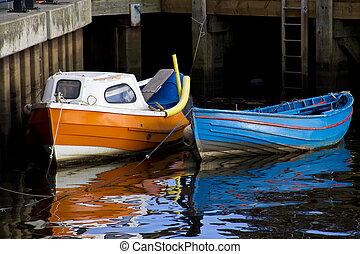 Fishing Boat Reflections