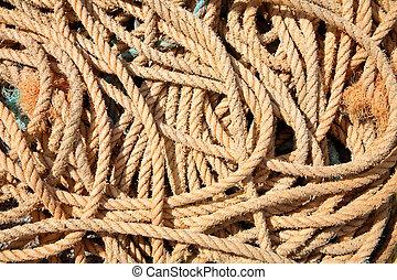 Fishing boat rope.