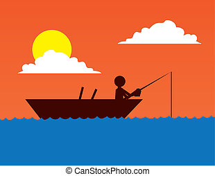 Fishing Boat Silhouette