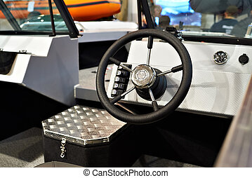 Fishing boat steering wheel