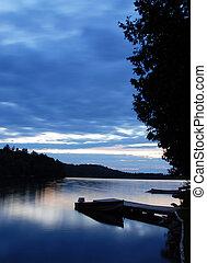 Fishing boat - sunset reflections