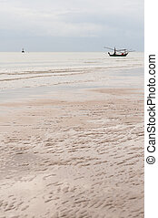 fishing boat thai on the sea