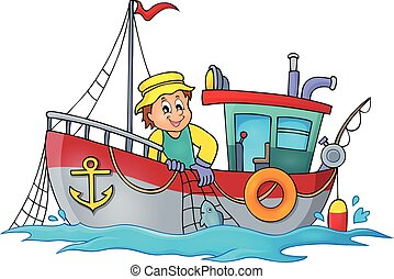 Fishing boat theme