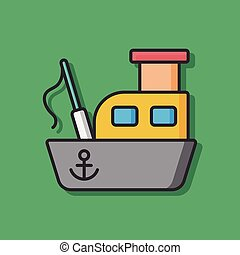 fishing boat vector icon