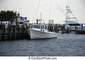 Fishing Boats at a Marina