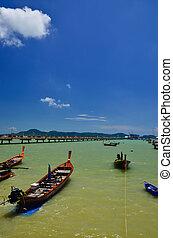 Fishing boats at the beach