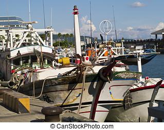 fishing boats at wharf
