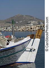 fishing boats greek islands