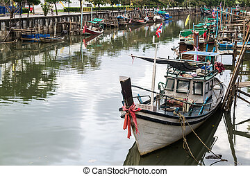 Fishing boats in canal
