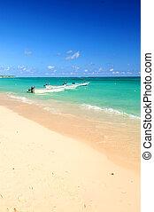 Fishing boats in Caribbean sea