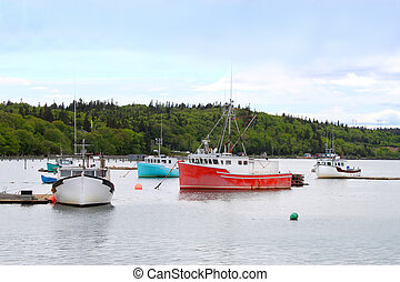 Fishing boats in Dipper Harbor, NB