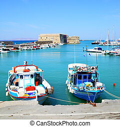 Fishing boats in Heraklion