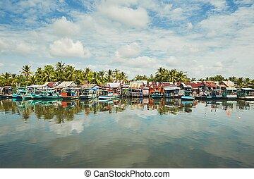 Fishing boats in port - Phu Quoc island, Vietnam