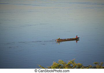 Fishing boats in the Mekong River