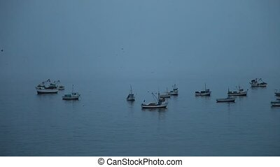 Fishing Boats In The Morning