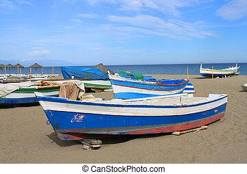 Fishing boats in Torremolinos, Spain