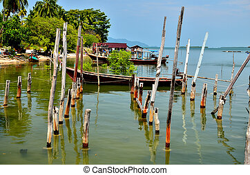 Fishing boats of fishermen