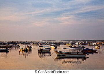 fishing boats on Bali