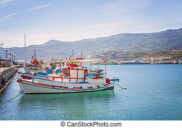 Fishing boats on Crete