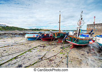 Fishing Boats on the Beach in Cornwall