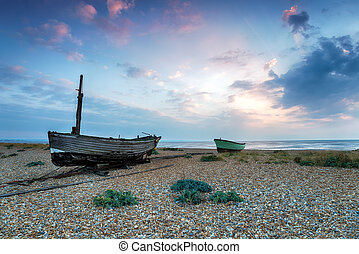 Fishing Boats on the Beach in Kent