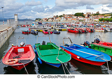 Fishing boats on the harbor