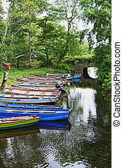 Fishing boats on the river