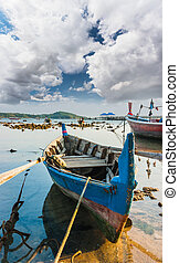Fishing boats on the sea shore in Thailand