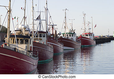 Fishing Boats resting at Elsinore Harbor Denmark